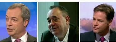 GE2015 Farage, Salmond, Clegg