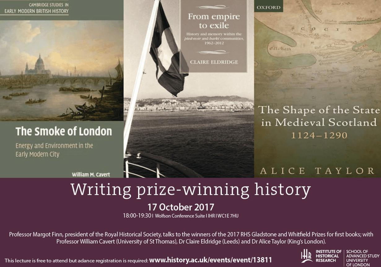 RHS/IHR Workshop, 'Writing Prize-Winning History'