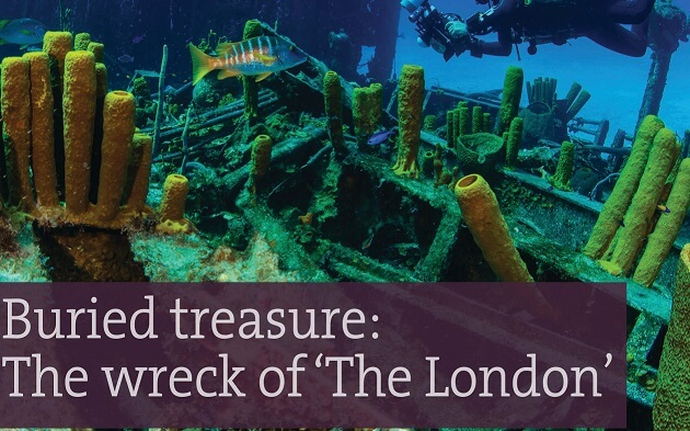 Buried treasure: The wreck of 'The London'