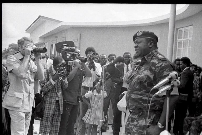 President Amin opens Jjajja Marina. 24 July 1975.