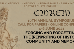 Forging and Forgetting: The (Re)writing of History, Community and Memory - deadline 1 April 2021