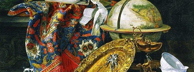 C17th century globe painting