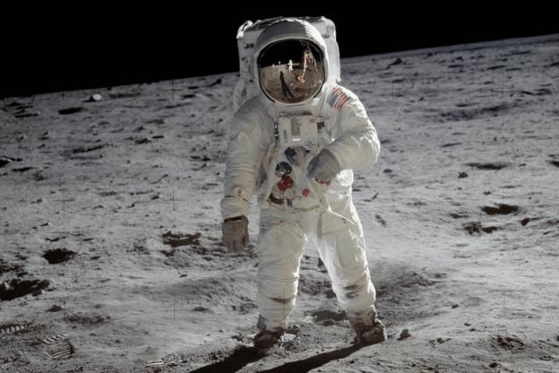 Buzz Aldrin on the Moon, 1969