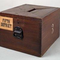 Wooden ballot box, Smithsonian Museum