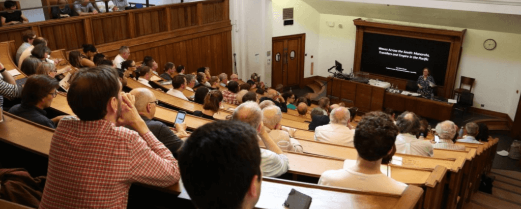 Image of lecture given at the RHS and lecture theatre