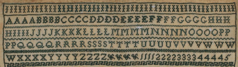 Sampler, 1828, detail