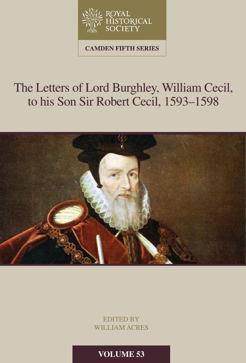 New Camden Volume on Lord Burghley