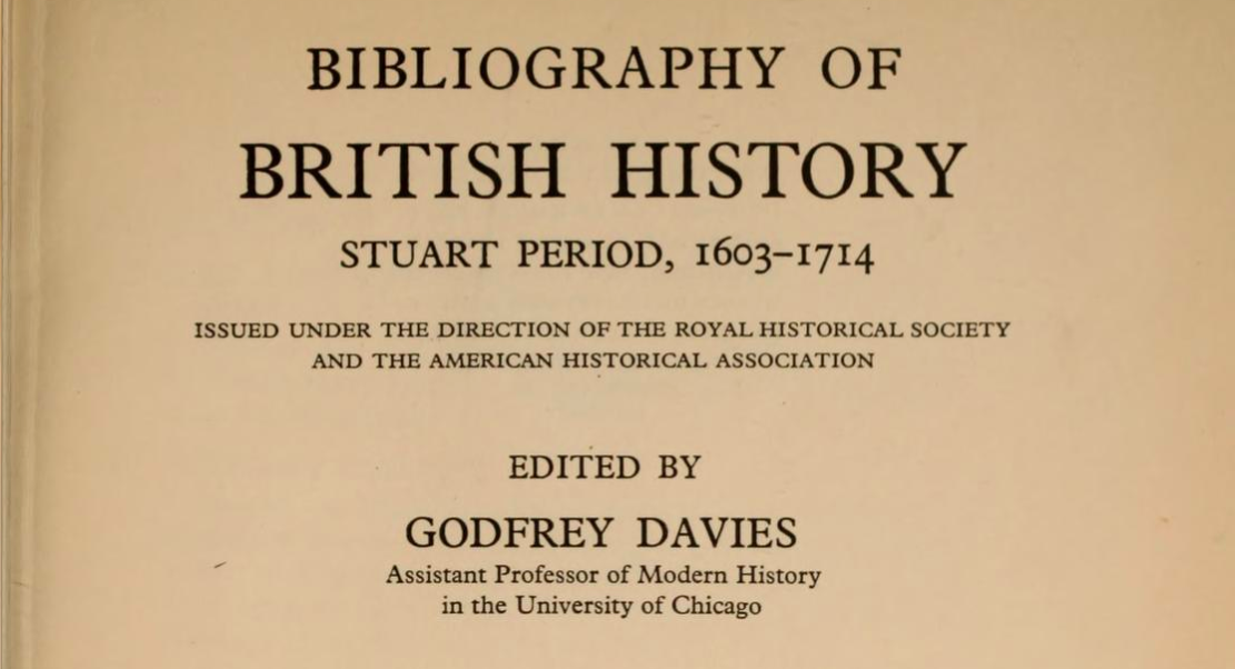 The RHS & the Bibliography of British & Irish History