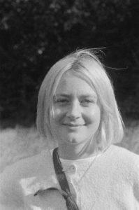 Black and white image of Jess White