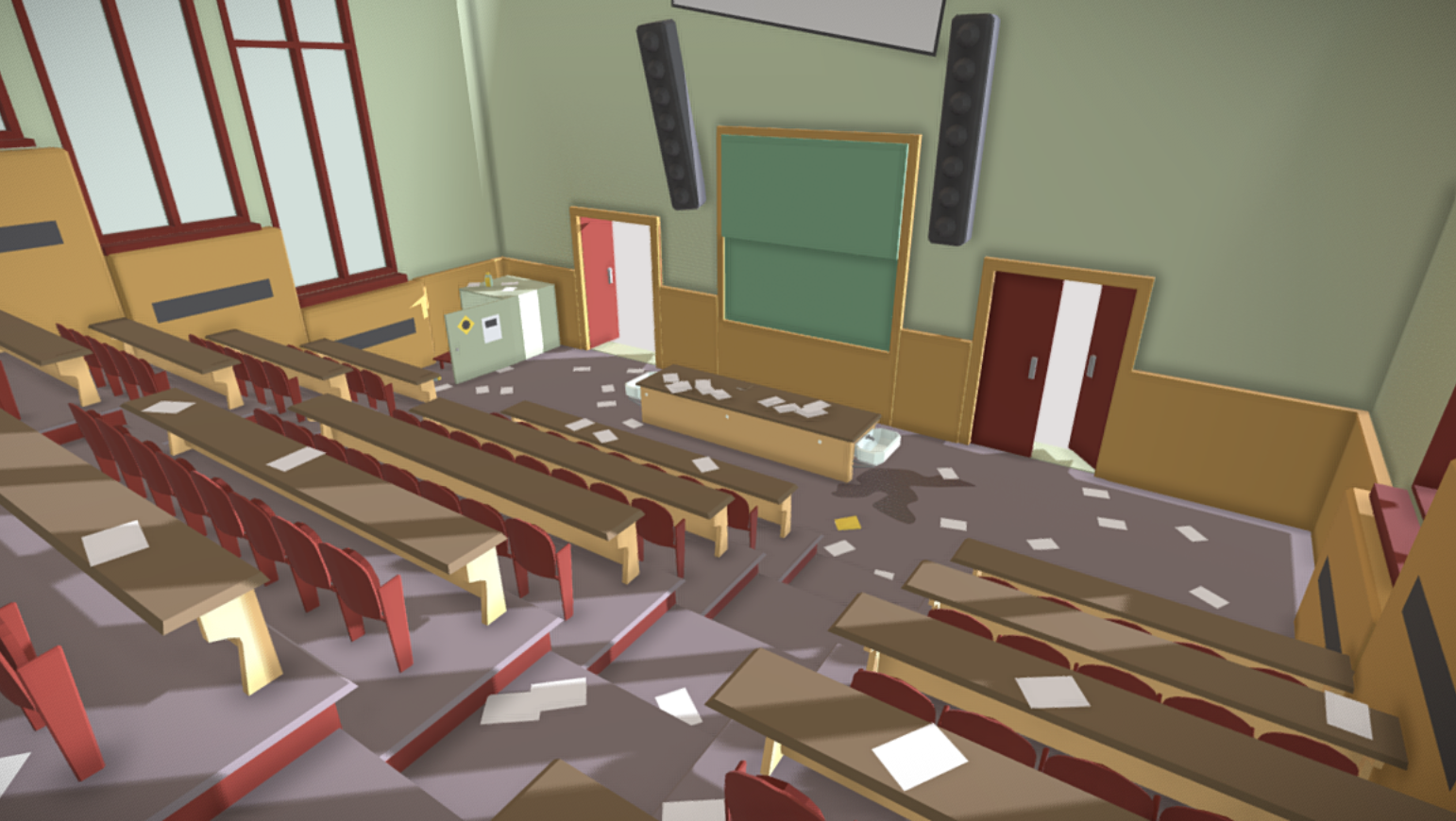 Image of 3D model of lecture theatre