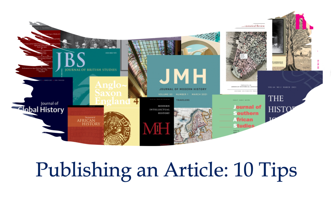 Ten Tips for Getting Published in Academic Journals